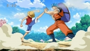 Il duo più forte! Dura lotta, Rufy e Toriko!