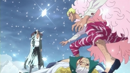 Tensione! Aokiji contro Doflamingo