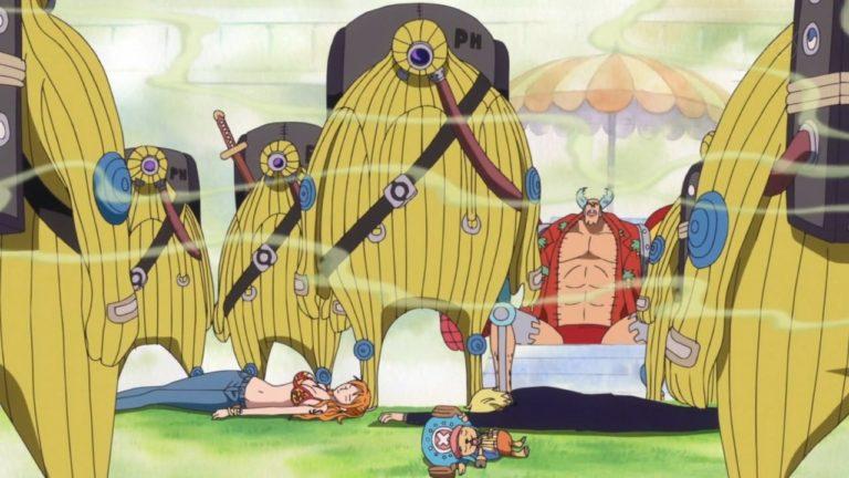 Episodio 580 – Una battaglia rovente! Rufy contro il drago gigante!