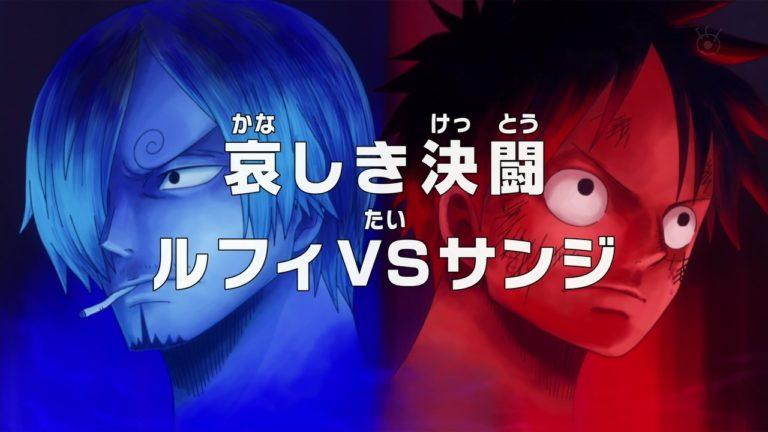 Episodio 807 – Il duello più triste – Rufy vs Sanji (parte 1)