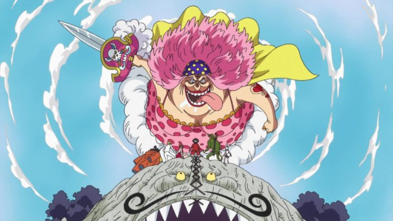 Episodio 844 – La lancia gigante – Assalto! Big Mom vola attraverso il cielo