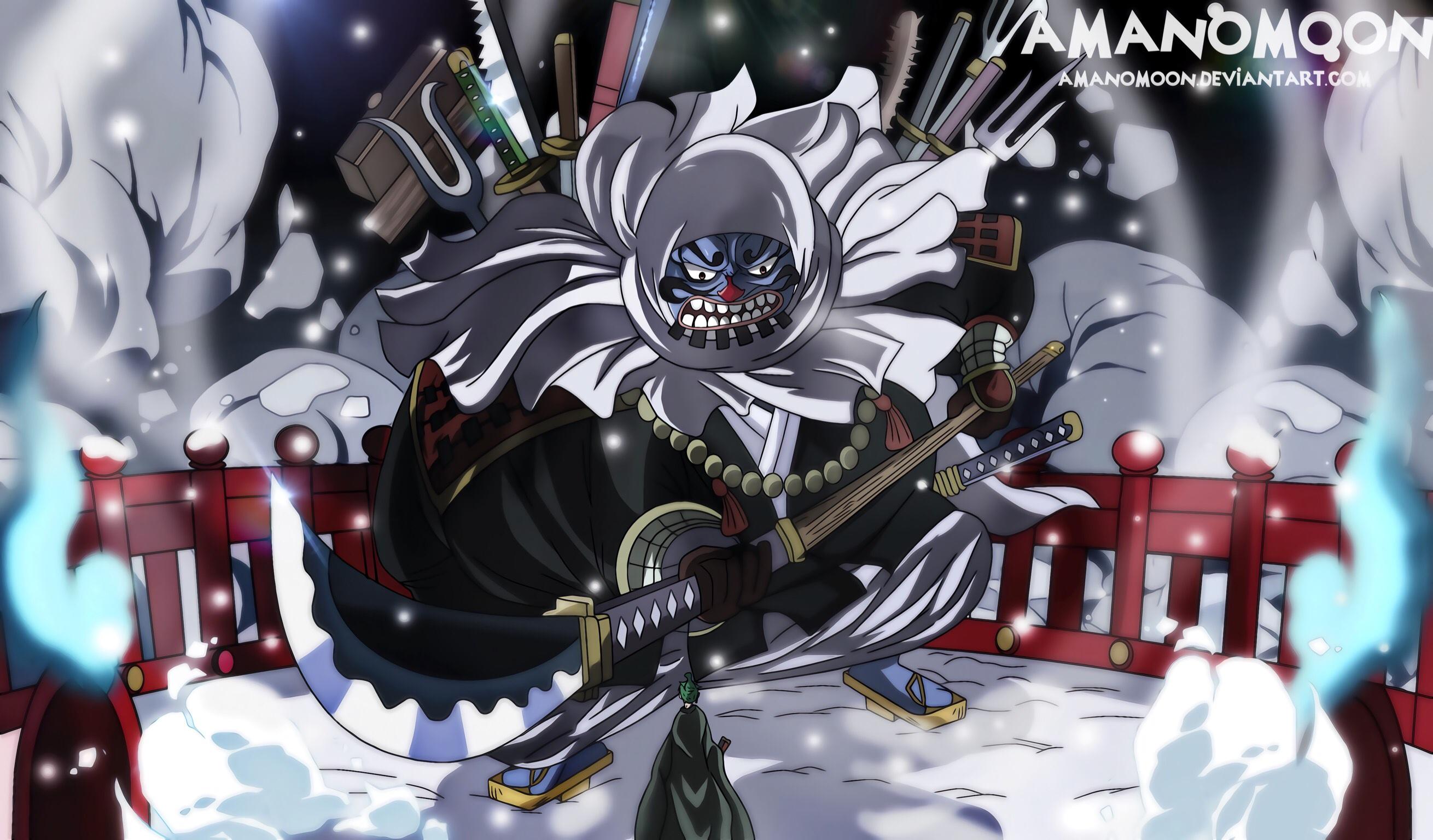 One Piece: Hyori e Kawamatsu (capitolo 952)